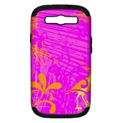 Spring Tropical Floral Palm Bird Samsung Galaxy S Iii Hardshell Case (pc+silicone) by Simbadda