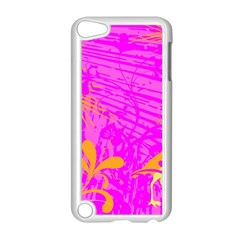 Spring Tropical Floral Palm Bird Apple Ipod Touch 5 Case (white) by Simbadda