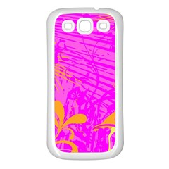 Spring Tropical Floral Palm Bird Samsung Galaxy S3 Back Case (white)