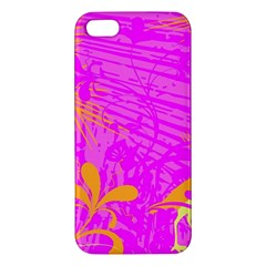 Spring Tropical Floral Palm Bird Iphone 5s/ Se Premium Hardshell Case