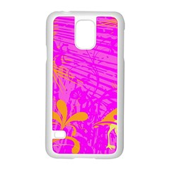 Spring Tropical Floral Palm Bird Samsung Galaxy S5 Case (white) by Simbadda