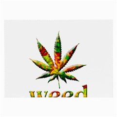 Marijuana Leaf Bright Graphic Large Glasses Cloth by Simbadda
