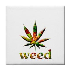 Marijuana Leaf Bright Graphic Face Towel by Simbadda