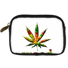 Marijuana Leaf Bright Graphic Digital Camera Cases