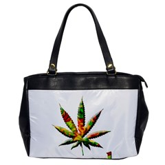 Marijuana Leaf Bright Graphic Office Handbags by Simbadda