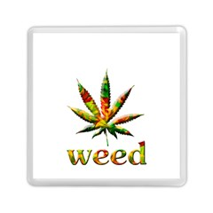 Marijuana Leaf Bright Graphic Memory Card Reader (square)  by Simbadda