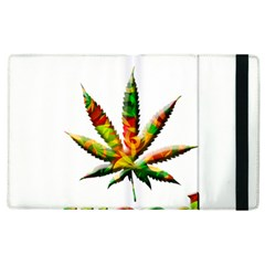 Marijuana Leaf Bright Graphic Apple Ipad 3/4 Flip Case by Simbadda