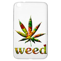 Marijuana Leaf Bright Graphic Samsung Galaxy Tab 3 (8 ) T3100 Hardshell Case  by Simbadda