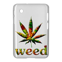 Marijuana Leaf Bright Graphic Samsung Galaxy Tab 2 (7 ) P3100 Hardshell Case  by Simbadda