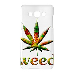 Marijuana Leaf Bright Graphic Samsung Galaxy A5 Hardshell Case  by Simbadda