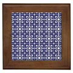 Leaves Horizontal Grey Urban Framed Tiles by Simbadda