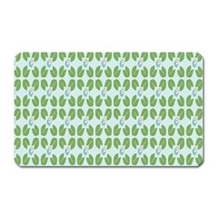 Leaf Flower Floral Green Magnet (rectangular)