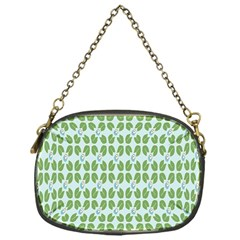 Leaf Flower Floral Green Chain Purses (one Side)