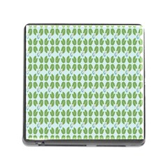 Leaf Flower Floral Green Memory Card Reader (square) by Alisyart