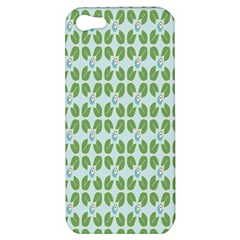Leaf Flower Floral Green Apple Iphone 5 Hardshell Case by Alisyart