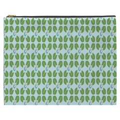 Leaf Flower Floral Green Cosmetic Bag (xxxl)  by Alisyart