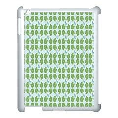 Leaf Flower Floral Green Apple Ipad 3/4 Case (white)