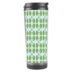Leaf Flower Floral Green Travel Tumbler by Alisyart