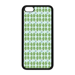 Leaf Flower Floral Green Apple Iphone 5c Seamless Case (black) by Alisyart