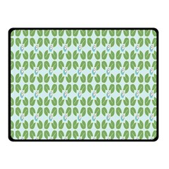 Leaf Flower Floral Green Double Sided Fleece Blanket (small)  by Alisyart