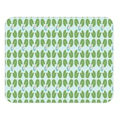 Leaf Flower Floral Green Double Sided Flano Blanket (large)  by Alisyart