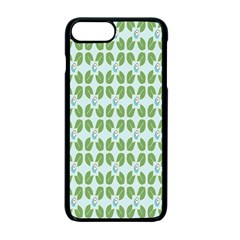 Leaf Flower Floral Green Apple Iphone 7 Plus Seamless Case (black) by Alisyart