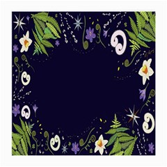 Spring Wind Flower Floral Leaf Star Purple Green Frame Medium Glasses Cloth (2 Side) by Alisyart