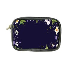 Spring Wind Flower Floral Leaf Star Purple Green Frame Coin Purse by Alisyart