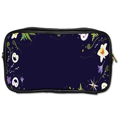 Spring Wind Flower Floral Leaf Star Purple Green Frame Toiletries Bags 2 Side by Alisyart