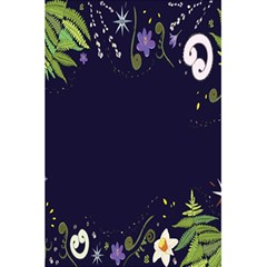 Spring Wind Flower Floral Leaf Star Purple Green Frame 5 5  X 8 5  Notebooks by Alisyart