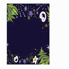 Spring Wind Flower Floral Leaf Star Purple Green Frame Large Garden Flag (two Sides) by Alisyart