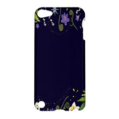 Spring Wind Flower Floral Leaf Star Purple Green Frame Apple Ipod Touch 5 Hardshell Case by Alisyart