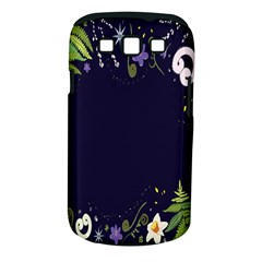 Spring Wind Flower Floral Leaf Star Purple Green Frame Samsung Galaxy S Iii Classic Hardshell Case (pc+silicone) by Alisyart