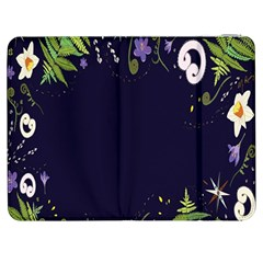 Spring Wind Flower Floral Leaf Star Purple Green Frame Samsung Galaxy Tab 7  P1000 Flip Case by Alisyart