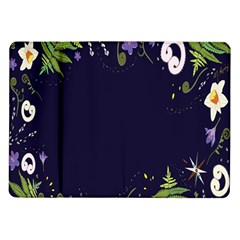 Spring Wind Flower Floral Leaf Star Purple Green Frame Samsung Galaxy Tab 10 1  P7500 Flip Case