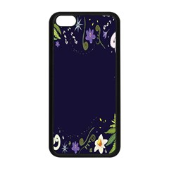 Spring Wind Flower Floral Leaf Star Purple Green Frame Apple Iphone 5c Seamless Case (black) by Alisyart