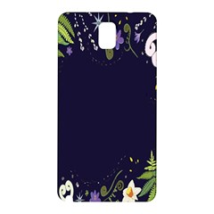 Spring Wind Flower Floral Leaf Star Purple Green Frame Samsung Galaxy Note 3 N9005 Hardshell Back Case by Alisyart