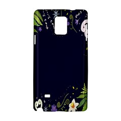 Spring Wind Flower Floral Leaf Star Purple Green Frame Samsung Galaxy Note 4 Hardshell Case by Alisyart