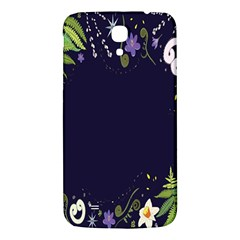 Spring Wind Flower Floral Leaf Star Purple Green Frame Samsung Galaxy Mega I9200 Hardshell Back Case