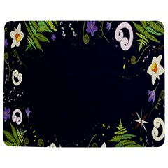 Spring Wind Flower Floral Leaf Star Purple Green Frame Jigsaw Puzzle Photo Stand (rectangular) by Alisyart