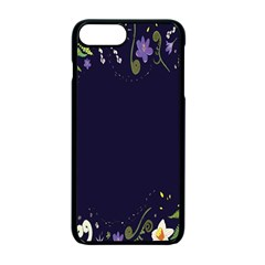Spring Wind Flower Floral Leaf Star Purple Green Frame Apple Iphone 7 Plus Seamless Case (black) by Alisyart