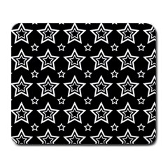 Star Black White Line Space Large Mousepads by Alisyart