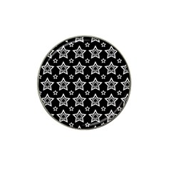 Star Black White Line Space Hat Clip Ball Marker (10 Pack) by Alisyart
