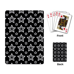 Star Black White Line Space Playing Card by Alisyart