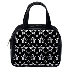 Star Black White Line Space Classic Handbags (one Side) by Alisyart