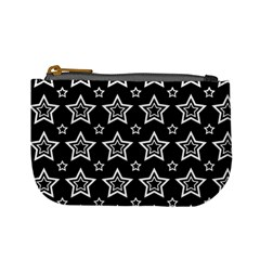 Star Black White Line Space Mini Coin Purses