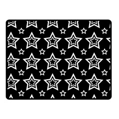 Star Black White Line Space Fleece Blanket (small)
