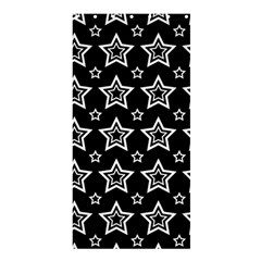 Star Black White Line Space Shower Curtain 36  X 72  (stall)