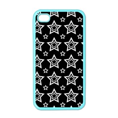 Star Black White Line Space Apple Iphone 4 Case (color)