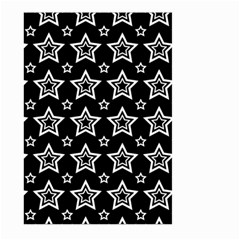 Star Black White Line Space Large Garden Flag (two Sides) by Alisyart